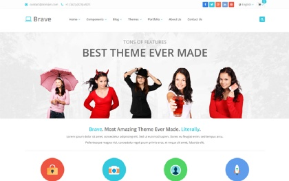 Brave - Responsive Theme (250+ Features)