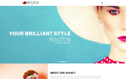 Bouton - Fashion and Modeling Site Theme