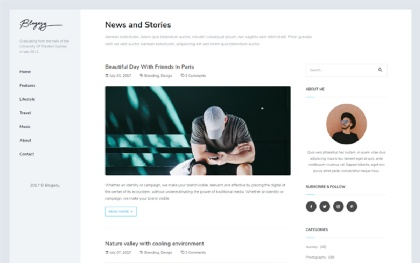 Personal HTML Site Templates | WrapBootstrap