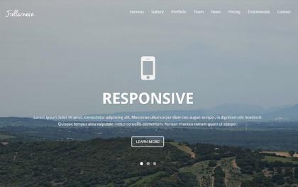 Fullscreen - Onepage Template