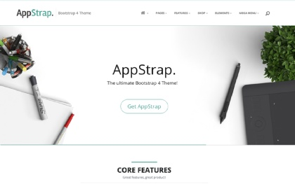 AppStrap - Responsive Bootstrap 4 Theme Screenshot