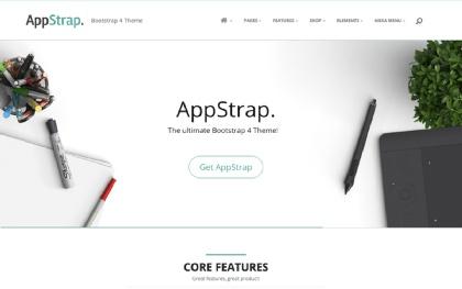 AppStrap - Responsive Bootstrap 4 Theme Screenshot
