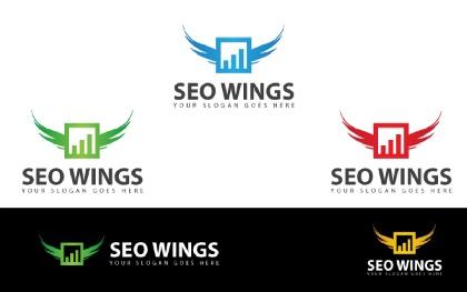 SEO Wings Logo Template
