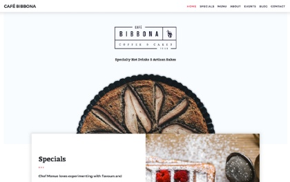Café Bibbona - Bakery Template