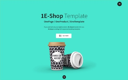 1E-shop - One-Page Single Product Shop