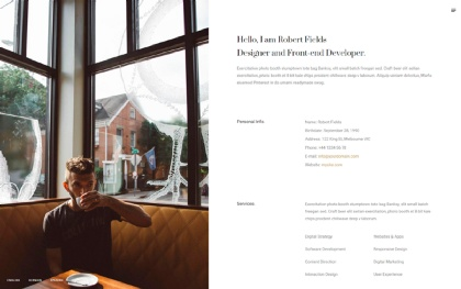 Node WordPress - Resume / Portfolio