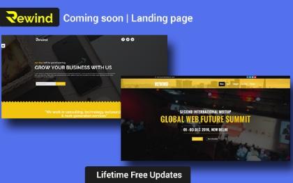 Rewind - Coming Soon | Landing Page