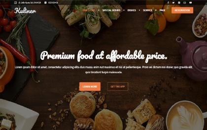 Kuliner - Restaurant Landing Page