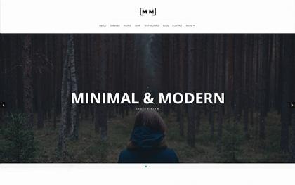 M&M | Creative One Page Portfolio