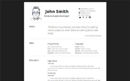 Simply - Minimal, Responsive Resume