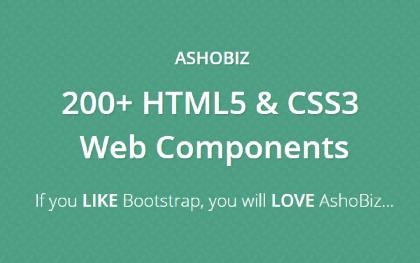 AshoBiz - HTML & CSS Web Components