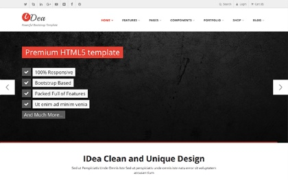 IDea - Responsive Website Template Screenshot