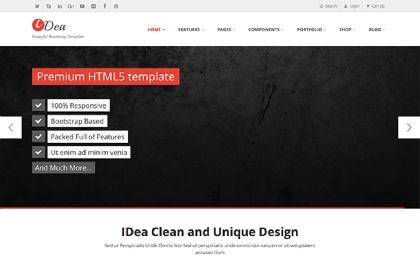iDea - Responsive Website Template Screenshot