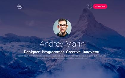 MyWALL - HTML Resume Portfolio