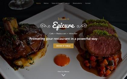 Epicure | For Restaurants (Bootstrap 4)