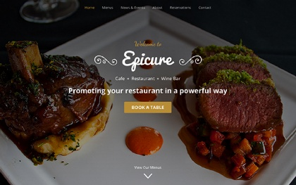 Epicure - For Restaurants (Bootstrap 4)