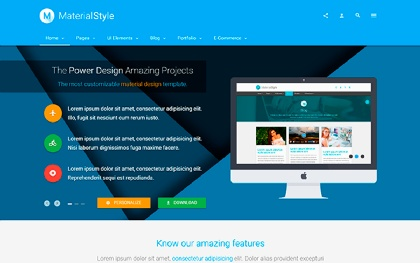 Material Style - Material Design For All
