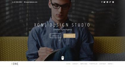 Xone - Minimal Portfolio | One/MultiPage