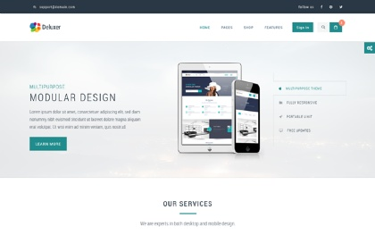 Deluxer - Business + Shop + 1Page Theme