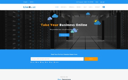 LimHost - Domain Hosting Template