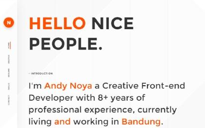 NOYA - One Page Personal Theme
