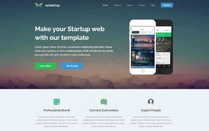Wstartup Responsive Startup Landing Page