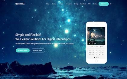 Simona - Landing Page for App and Design