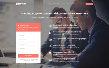 Conversi - Premium Conversion Template
