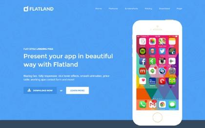Flatland - Responsive Flat Design Template