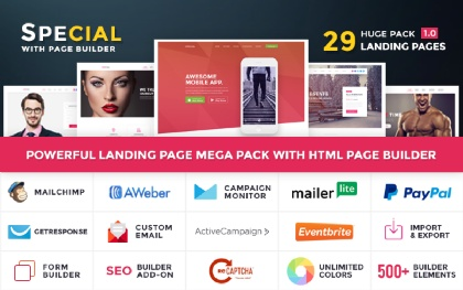 Special - Landing Page Pack HTML Builder