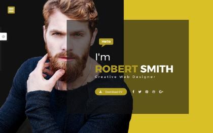 Robert - Portfolio & Resume Template