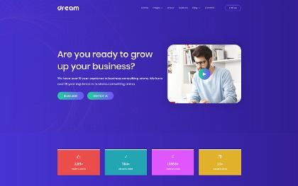 Dream - Multipurpose One Page Template