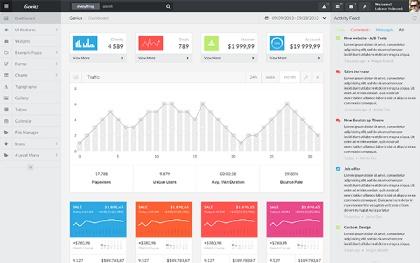 Genius Bootstrap Admin Template