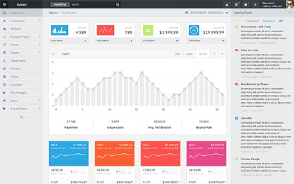 Genius Bootstrap 4 Admin + Angular 2