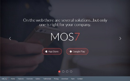 Mos7 - Responsive App Landing Page