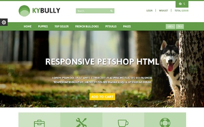 KYBully - Pet Store eCommerce HTML Theme