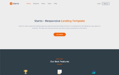 Starto - Bootstrap 4 Landing Page Template