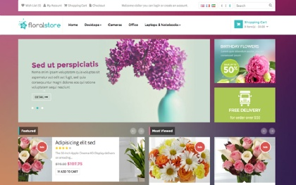 Pav Floral OpenCart Theme
