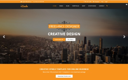 Business template wrapbootstrap ecada responsive multipurpose template flashek Image collections