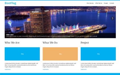 Bootflag - Responsive Company Profile