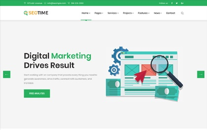 SeoTime - Digital Marketing Template