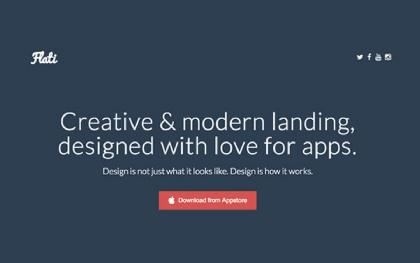 Flati - Responsive App Landing