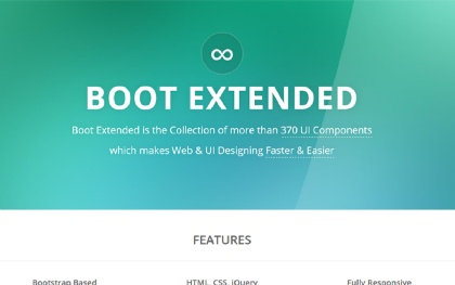 Boot Extended - 370 HTML5/CSS3 Components