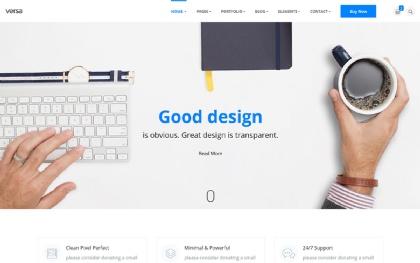 Versa - Minimal Startups - Bootstrap4