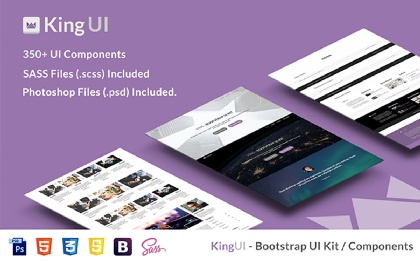 King UI - Bootstrap UI & Components Kit