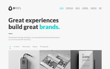 Drop Personal Portfolio Template 60% off