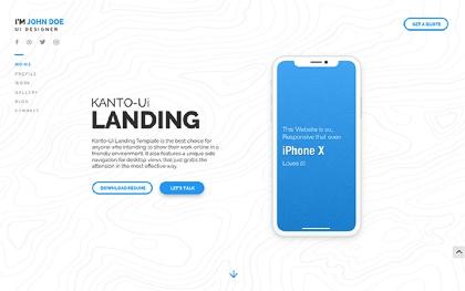 KantoUI - Landing Page Template