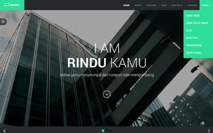 RINDU - Responsive Web Template