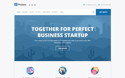 Probox - Startup Business Template