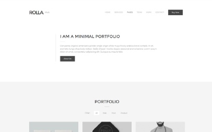 Rolla - Minimal Portfolio Template